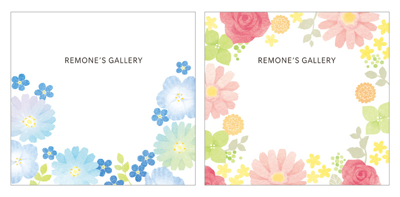 アクセサリー台紙 REMONE デザイン 花柄
