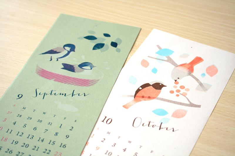 野鳥づくしのミニカレンダー2017