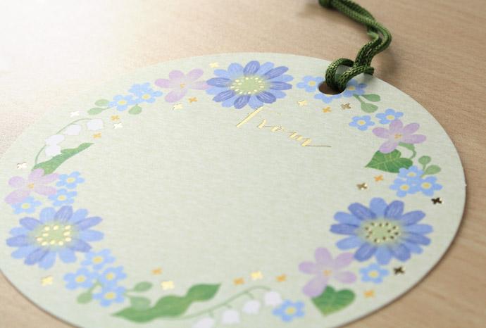 アミファ 花のメッセージカード ことり寧子
