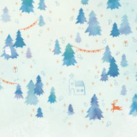 森 クリスマス ツリー フクロウ 雪 冬