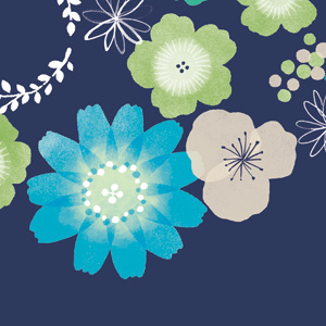 マシュカシュ 生地 花柄デザイン