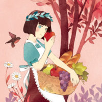 カードゲーム「タロットストーリア」アートワーク 白雪姫