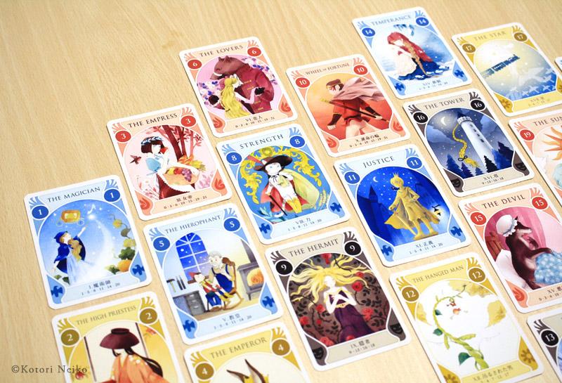 カードゲーム「タロットストーリア」プレイ風景
