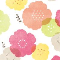 アミファ 春文具 イラスト 花柄 100均