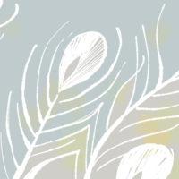 インテリアイラスト 孔雀の羽